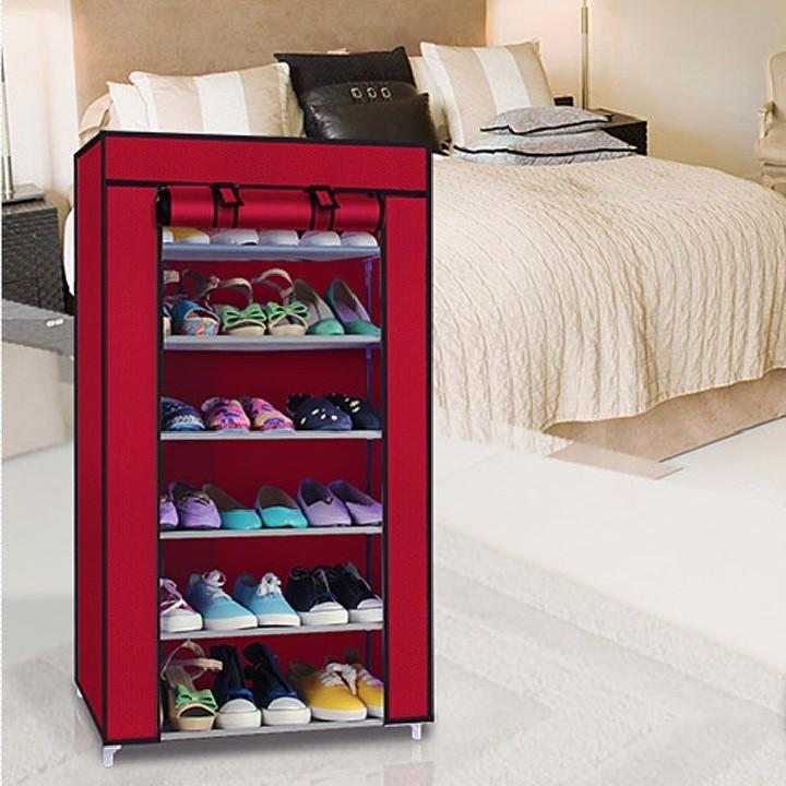 Tủ vải để giày dép 7 tầng 6 ngăn 1