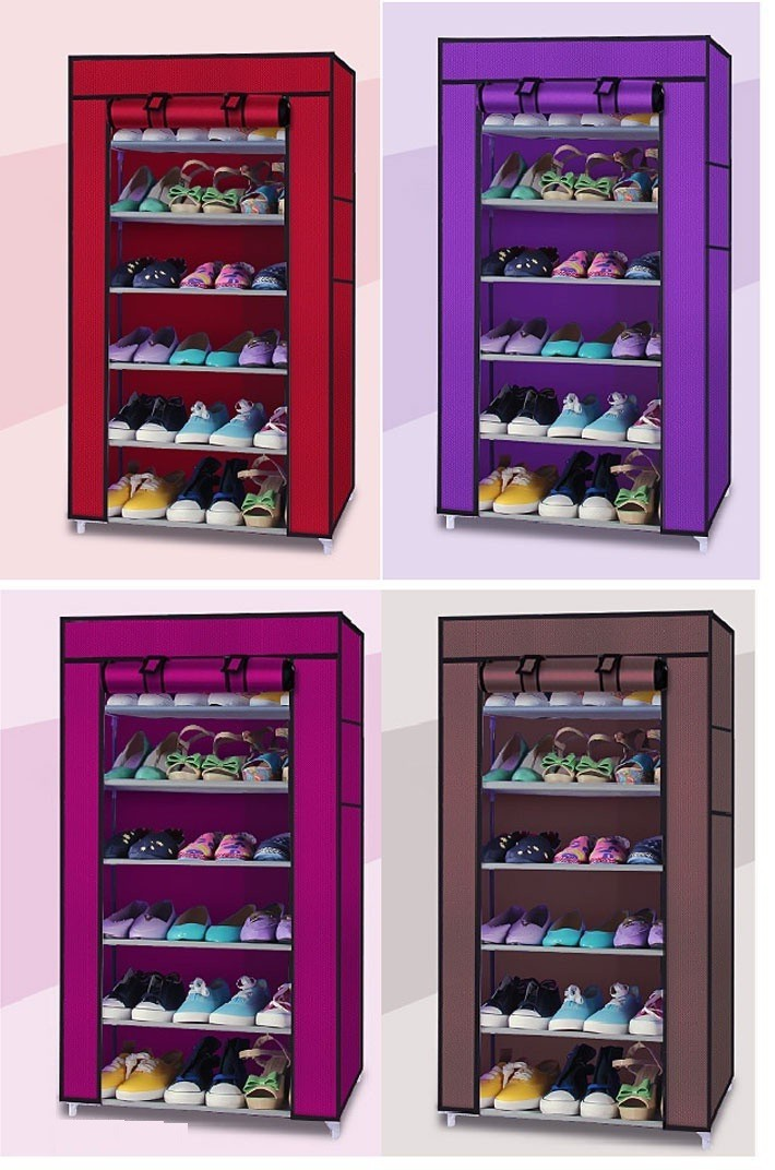 Tủ vải để giày dép 7 tầng 6 ngăn 5
