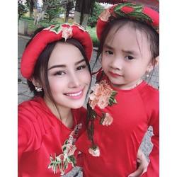 COMBO 2 ÁO DÀI CÁCH TÂN + MẤN TH02251