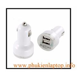 CỤC SẠC XE HƠI TỐT 2 CỔNG USB 1A 2A