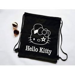 Ba lô dây rút vải bò Hello Kitty