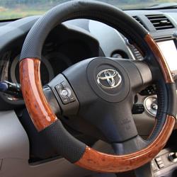 Bao tay lái ô tô kèm vân gỗ