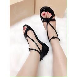 Giày sandal dây kiểu khoá kéo sau 2màu -  G01502