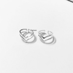 Nhẫn Silver925 hình chữ V Double V Ring