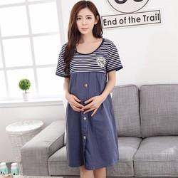 Váy Bầu Cho Con Bú Giả Jean Cao Cấp NX924