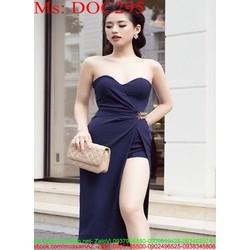 Đầm ôm cúp ngực kiểu xẻ tà sành điệu thời trang DOC295