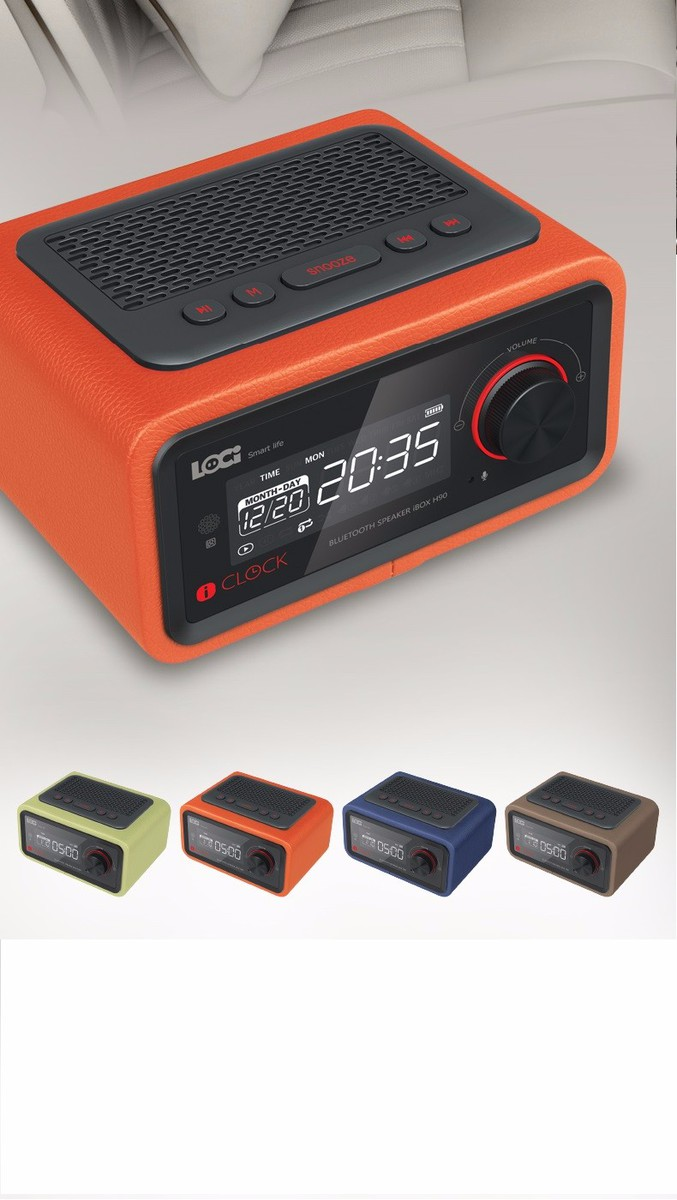 Loa Bluetooth đài FM Radio Đồng hồ báo thức LOCI Smartlife 8