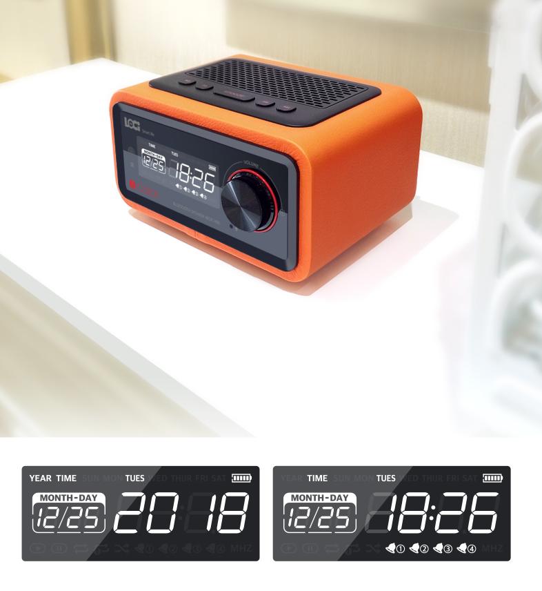 Loa Bluetooth đài FM Radio Đồng hồ báo thức LOCI Smartlife 9