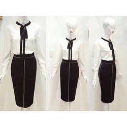 set váy áo công sở hàng như hình chất đẹp