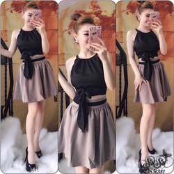 Shop SuSu - Set áo yếm với chân váy dễ thương