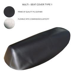 Vỏ yên, áo yên đa năng xe số màu đen