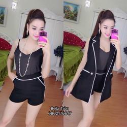 Set áo + vest + short