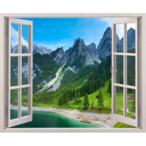Tranh dán tường cửa sổ 3D cảnh đẹp thiên nhiên VTC VT0054