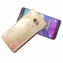 Ốp lưng silicon họa tiết hoa văn cho Galaxy Note 5