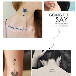 Hình xăm dán Tattoo chữ