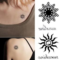 Hình xăm dán Tattoo mặt trời lửa