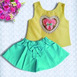 Set áo croptop quần váy