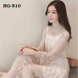 Đầm Maxi Ren Thêu Hoa Hàng Thái
