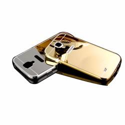 Ốp lưng viền nhôm mặt gương cho Galaxy S4 Vàng