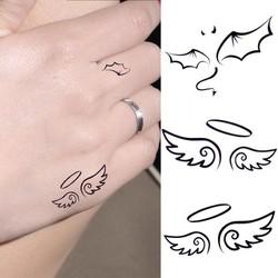 Hình xăm dán Tattoo đôi cánh