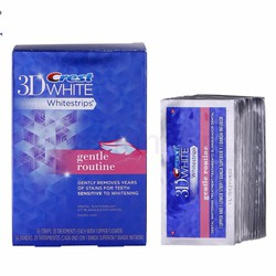 Miếng dán trắng răng Crest 3D White Gentle Routine