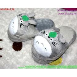 Dép thú bông mang trong nhà cho bé hình thỏ xám đáng iu DBA5