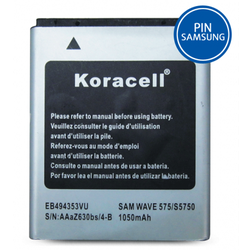 Pin Samsung-Wave 575 S5750 hiệu Koracell 1050mAh