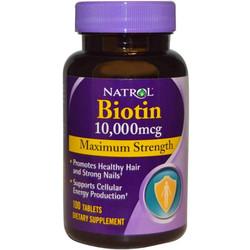 Viên uống mọc tóc Biotin Natrol - Kích thích mọc tóc và ngăn rụng tóc
