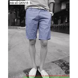 Quần short kaki nam phong cách trẻ trung năng động QKN18