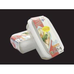 Bộ 2 hộp nhựa đựng thực phẩm 800ml Nhật. 20,4x12.7cm, cao 5.8cm. H011.