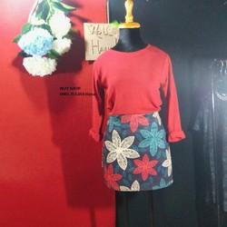 sét áo thun chân váy hoa