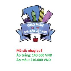 Áo thun Chào Mừng 20-11 Nhà Giáo Việt Nam