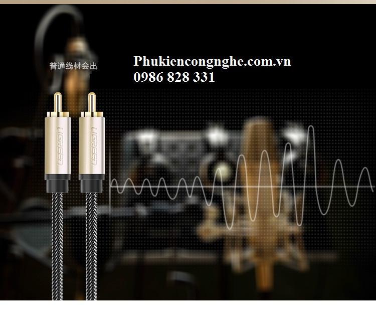 Cáp Coaxial Digital Audio Video 1m chính hãng Ugreen UG-20736 7