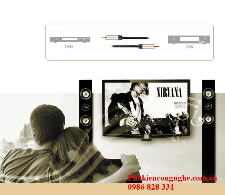 Cáp Coaxial Digital Audio Video 1m chính hãng Ugreen UG-20736 5