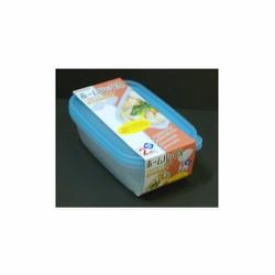 Bộ 2 hộp nhựa đựng thực phẩm Nhật sx, 800ml. 20,4x12.7x5.8cm. H035