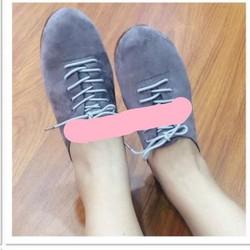 giày mọi da nhung