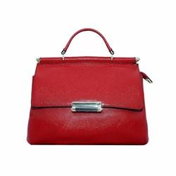 Túi xách nữ da bò thật cao cấp ELMI màu đỏ ETM527