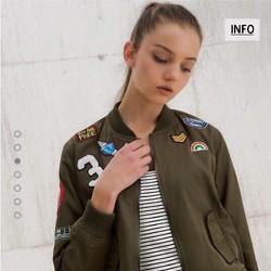 Áo khoác nữ bomber Bershka