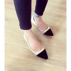 giày búp bê nhung mang êm -pll97