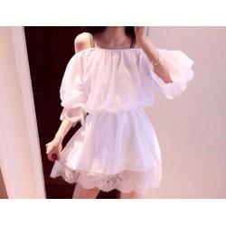 Đầm xoè bẹt vai