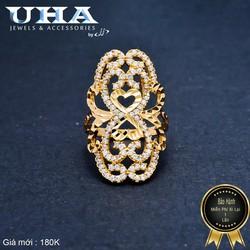 Nhẫn Nữ Đính Đá Sang Trọng UHA NN03 - Vàng