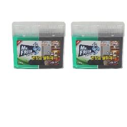 Bộ 2 Hộp gel khử khuẩn tủ lạnh than hoạt tính Mr Fresh Korea