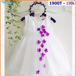 Đầm công chúa đính hoa rơi xinh lung linh cho bé