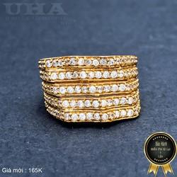 Nhẫn Nữ Đính Đá Sang Trọng UHA NN06 - Vàng