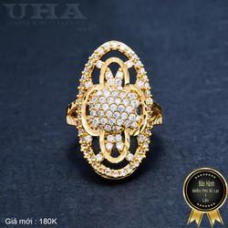 Nhẫn Nữ Đính Đá Sang Trọng UHA NN01 - Vàng