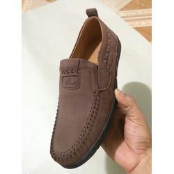 Giày Da Lộn Loafer