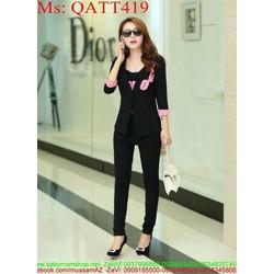 sét thể thao nữ áo khoác QATT419