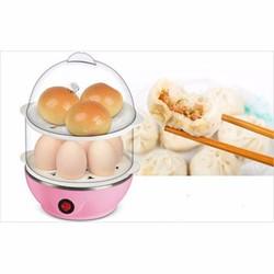 Nồi luộc trứng hấp thức ăn đa năng 2 tầng