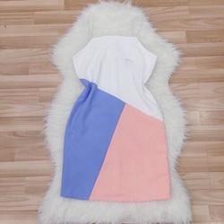 Đầm suông phối màu _MỎ CHU SHOP