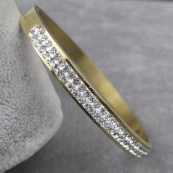 Lắc tay Ti-tan mạ vàng 2 hàng xoàn thời trang mẫu LT121